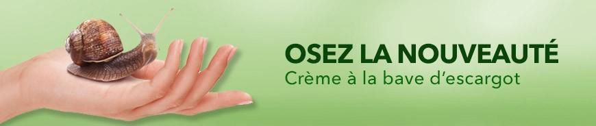 Crème régénérante pour la peau à la bave d'escargot.